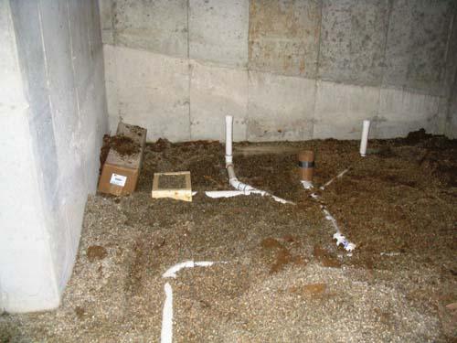 2003 12 29 023 Plumbing Basement Bathroom Rough In